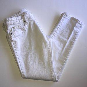 DL 1961 White Riley Boyfriend Jeans
